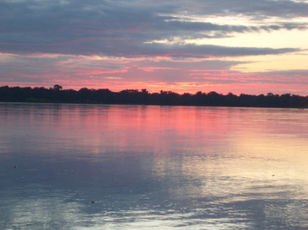 Sunrise on the River Napo